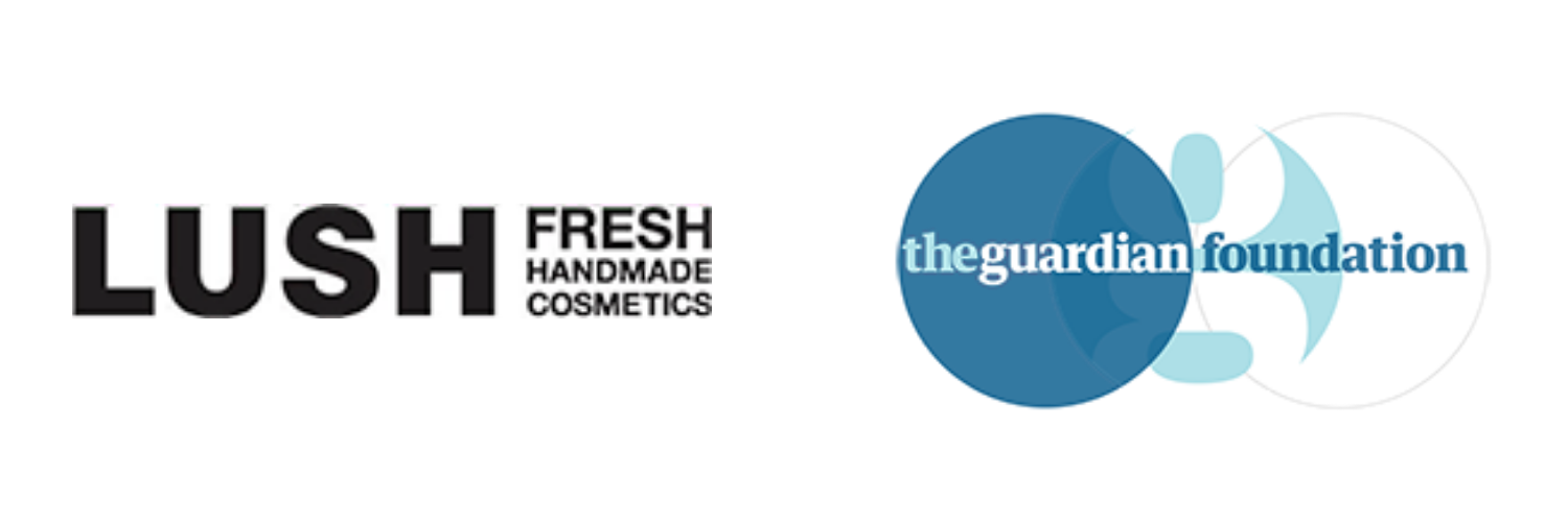 Lush and The Guardian Foundation logos