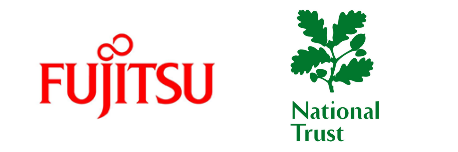 Fujitsu and National Trust logos