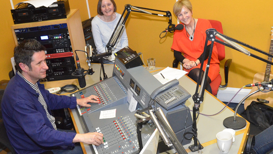 People in radio studio