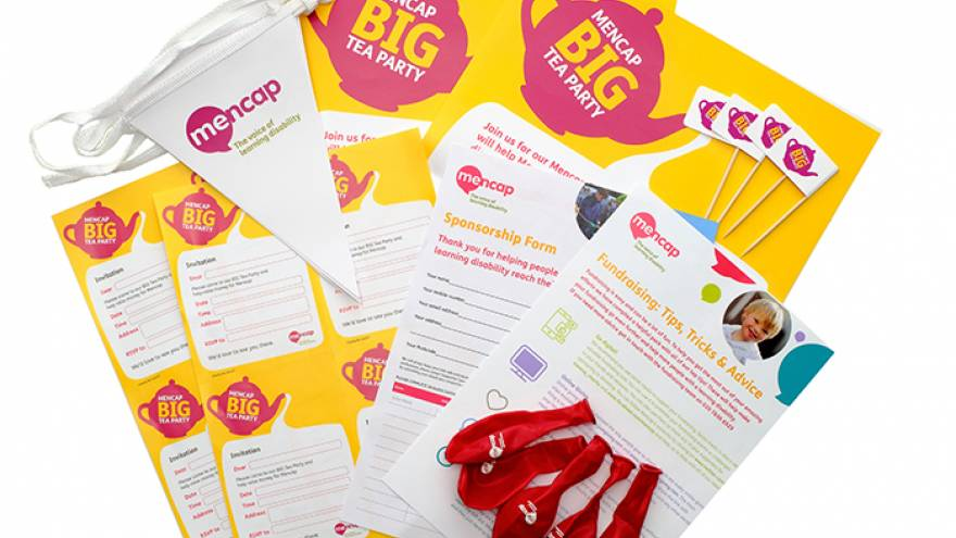 Big Tea Party leaflets and balloons