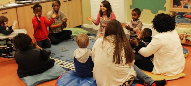 Sensory story telling session with kids