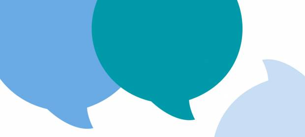 Cartoon image of speech bubbles.